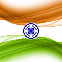 Abstract wavy Indian flag theme design background
