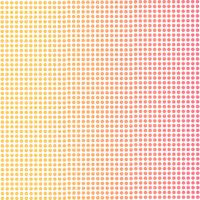 Gradient background of pink and orange dots.