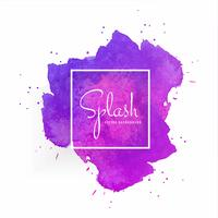 Abstract watercolor stain with splash colorful design