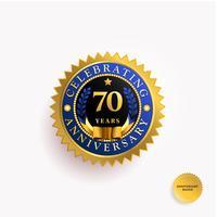 Jahre Jubiläum-Gold-Abzeichen