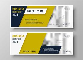 professional geometric business banner template design