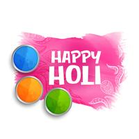 happy holi colors background with gulal powder