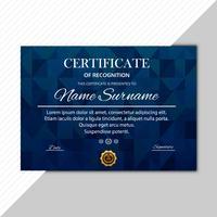 Projeto abstrato do polígono do molde do certificado abstrato