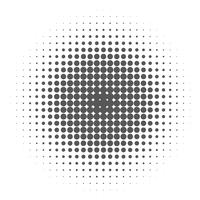 Pop Art Background, Black halftone dots on white Background.  vector