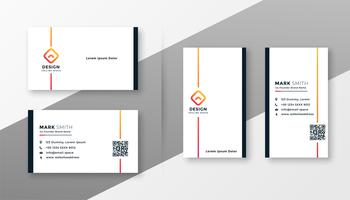 minimal white business card template set