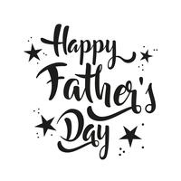 Happy Father's Day lettering whit stars.