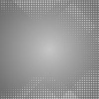 Gray gradient background with white dots.