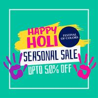 happy holi festival sale template design