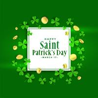 happy st patricks day green banner design