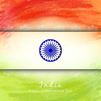 Abstract Indian flag theme watercolor design background vector