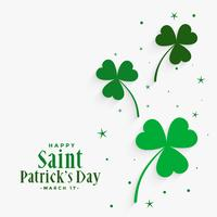 elegante trifoglio lascia st patricks day background