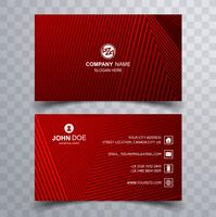Hermosa tarjeta de visita plantilla diseño geométrico