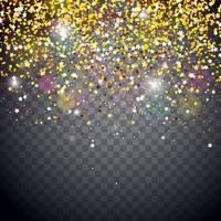 Ilustración de luces de Navidad brillante vector