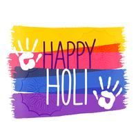 holi colors festival background with hand impression