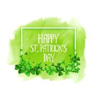 felice st patricks day verde acquerello sfondo
