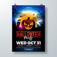 Halloween-partij flyer illustratie