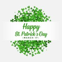 st patricks day background con foglie di trifoglio