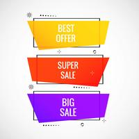 Colorful sale banner set design