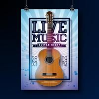 Live music flyer design  vector