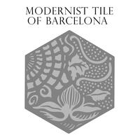 Modernist tile of Barcelona. Vector illustration.