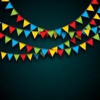 Celebrate Illustration with Party Flags