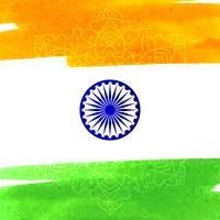 Abstrakter indischer Flaggenthema-Aquarell-Designhintergrund