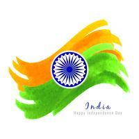 Fondo indiano astratto di progettazione dell'acquerello di tema della bandiera