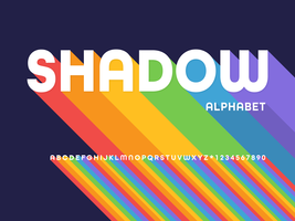 Long Shadow Alphabet vector