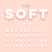 3D Soft Alphabet vector