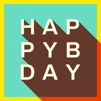 Retro Happy Birthday Typography Card
