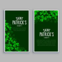 st. patricks day vertical banners set