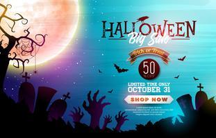 Halloween-Verkaufsfahnenabbildung