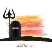 Fondo de saludo festival Mahashivratri abstracto