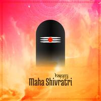 Abstract Mahashivratri festival greeting background