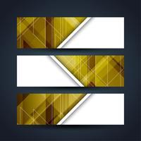 Conjunto de banners modernos y elegantes. vector