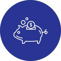 Vector piggy pictogram