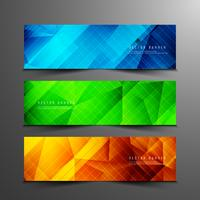 Abstract geometric modern banners set