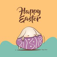 Easter bunny and Easter egg vector