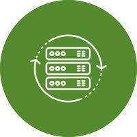 Vektor rotera ikon