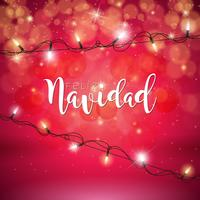 Christmas Illustration with Feliz Navidad