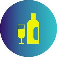 icône de verre de vecteur