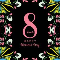 Happy Women's Day celebration background