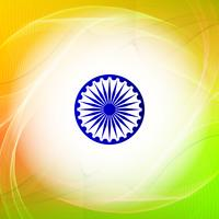 Abstrakt vågig indisk flagga tema design bakgrund