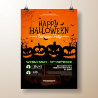 Illustration de flyer fête d'Halloween