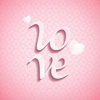 Valentines Day LOVE tipo de letra vector