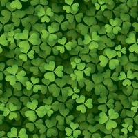Seamless clover leaves background
