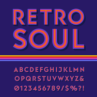 Colorful Retro Stripes Alphabet