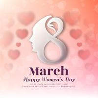 Modern stylish Women's day background