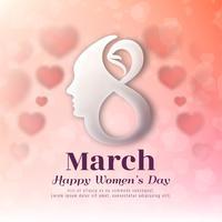 Modern stylish Women's day background