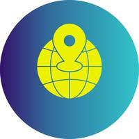icona di posizione del mondo vettoriale